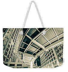 Weekender Tote Bag featuring the photograph Complex Architecture by Alex Grichenko