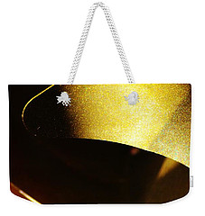Composition In Gold Weekender Tote Bag