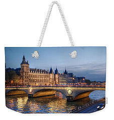 Conciergerie And Pont Napoleon At Twilight Weekender Tote Bag