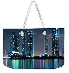 Condominium Buildings In Miami Weekender Tote Bag by Carsten Reisinger