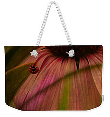 Cone Flower And The Ladybug Weekender Tote Bag