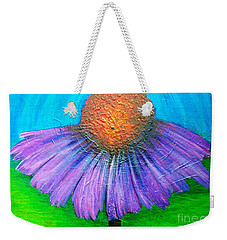 Coneflower In A Turquoise Sky Weekender Tote Bag