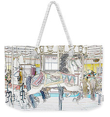 Coney Island Carousel Weekender Tote Bag