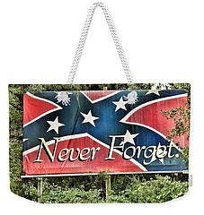 Confederate Flag In The Woods Weekender Tote Bag