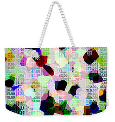 Weekender Tote Bag featuring the photograph Confetti Table by Ecinja Art Works