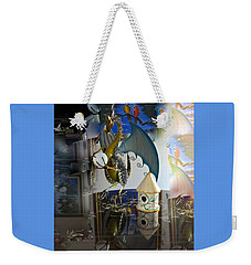 Conglomerate Or Camouflage Weekender Tote Bag by Phyllis Kaltenbach