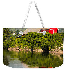Weekender Tote Bag featuring the photograph Connecticut River Farm by Edward Fielding