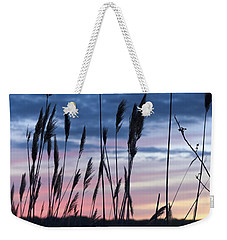 Connecticut Sunset With Reeds Series 4 Weekender Tote Bag by Marianne Campolongo