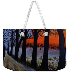 Conrad Road Sunrise Weekender Tote Bag by Dick Bourgault