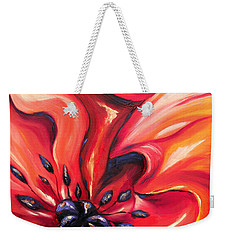 Weekender Tote Bag featuring the painting Consuming Fire by Meaghan Troup