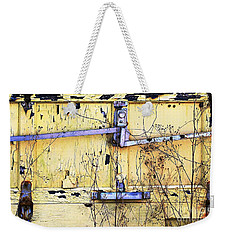 Weekender Tote Bag featuring the photograph Contain Yourself by Ethna Gillespie