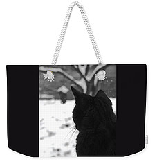 Contemplating Winter Weekender Tote Bag