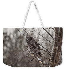 Contemplating Winter Weekender Tote Bag by Eunice Gibb