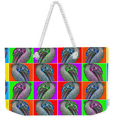 Contemporary Pelicans II Weekender Tote Bag by Betsy Knapp