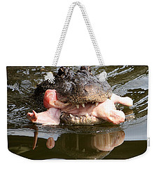 Weekender Tote Bag featuring the photograph Contented by David Nicholls