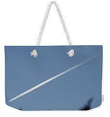 Weekender Tote Bag featuring the photograph Contrail by David S Reynolds