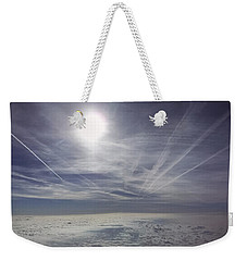 Contrail Panorama Weekender Tote Bag