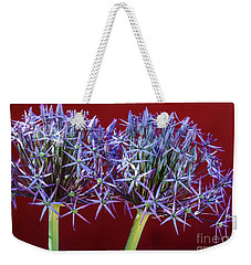 Weekender Tote Bag featuring the photograph Flowering Onions by Roselynne Broussard