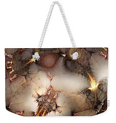 Weekender Tote Bag featuring the digital art Controversy by Casey Kotas