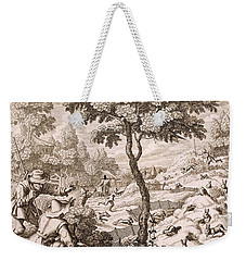 Cony Catching, Engraved By Wenceslaus Weekender Tote Bag