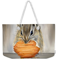Cookie Time- Squirrel Eating A Cookie Weekender Tote Bag by Lourry Legarde