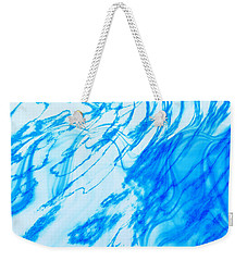 Weekender Tote Bag featuring the photograph Cool Blue by Kellice Swaggerty