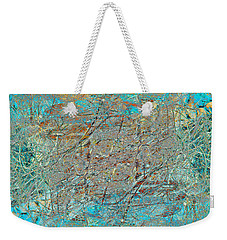 Weekender Tote Bag featuring the photograph Cool Blue Tangle by Stephanie Grant