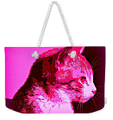 Weekender Tote Bag featuring the photograph Cool Cat by Clare Bevan