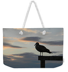 Weekender Tote Bag featuring the photograph Cool Colors At Dusk by Jean Goodwin Brooks