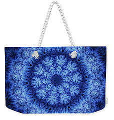Weekender Tote Bag featuring the digital art Cool Down Series #1 Snowflake by Lilia D