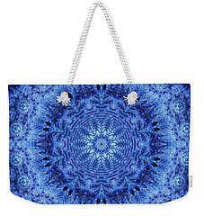 Weekender Tote Bag featuring the digital art Cool Down Series #2 Frozen by Lilia D