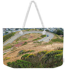 Cool Drive On Twin Peaks - San Francisco Weekender Tote Bag by Connie Fox