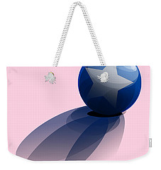 Blue Ball Decorated With Star Weekender Tote Bag by R Muirhead Art
