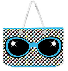 Cool Retro Blue Sunglasses Weekender Tote Bag