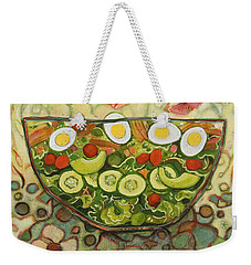 Cool Summer Salad Weekender Tote Bag by Jen Norton