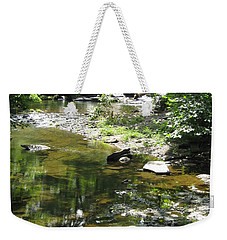 Weekender Tote Bag featuring the photograph Cool Waters by Ellen Levinson