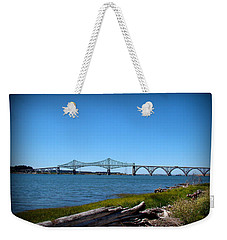 Coos Bay Bridge Weekender Tote Bag by Nick Kloepping