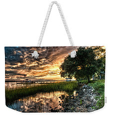 Coosaw Plantation Sunset Weekender Tote Bag by Scott Hansen