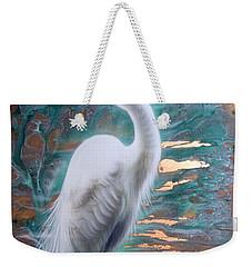 Copper Egret Weekender Tote Bag