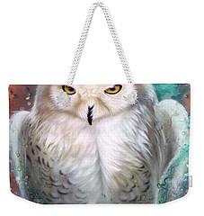 Copper Snowy Owl Weekender Tote Bag
