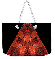 Copper Triangle Abstract Weekender Tote Bag