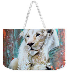 Copper White Lion Weekender Tote Bag