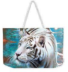 Copper White Tiger Weekender Tote Bag