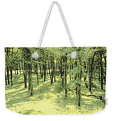 Weekender Tote Bag featuring the photograph Copse Of Trees Sunlight by Tom Wurl