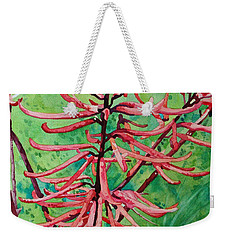 Coral Bean Flowers Weekender Tote Bag