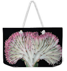 Coral Cactus Weekender Tote Bag by Jeannie Rhode