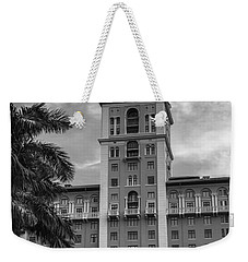 Coral Gables Biltmore Hotel In Black And White Weekender Tote Bag