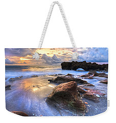 Coral Garden Weekender Tote Bag by Debra and Dave Vanderlaan