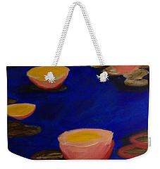 Coral Lily Pond Weekender Tote Bag by Anita Lewis