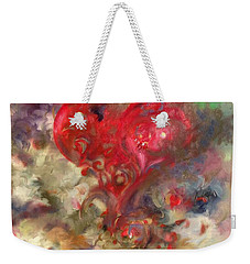 Corazon Weekender Tote Bag by Julio Lopez